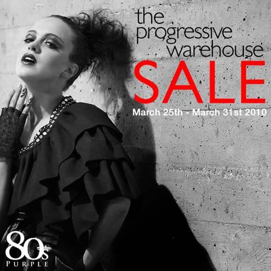 80s purple warehouse sale