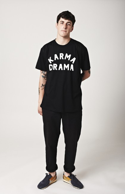 Karma Drama Black Tee by Grind London