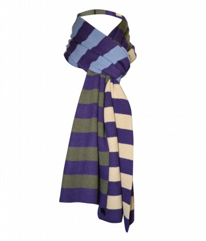 Nautical Purple Striped Polo Men's Scarf