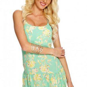 Mint Floral Summer Dress