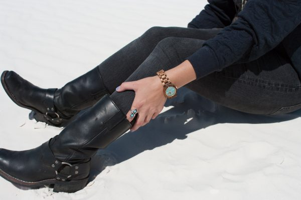 Turquoise Cora Wooden Watch by JORD, Harley Davidson Boots, Vintage Turquoise Ring